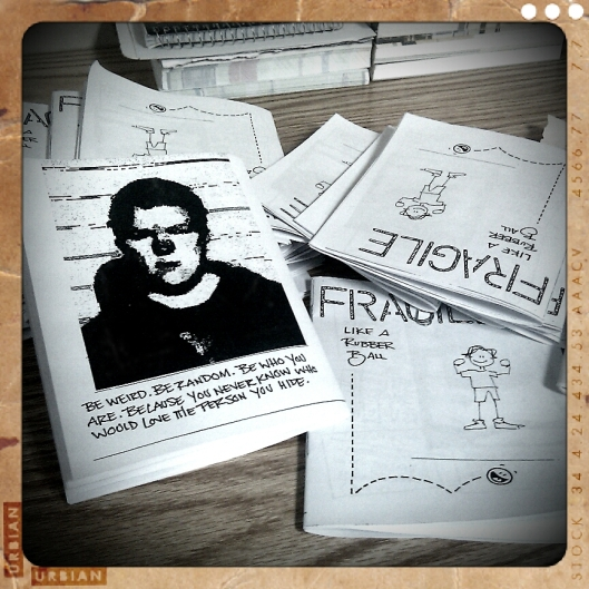 Fragile Like a Rubber Ball - 24 Hour Zine Thing 2012 version